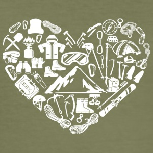 mountain heart - Men's Slim Fit T-Shirt