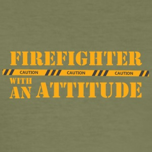 Fire Department: Firefighter with an Attitude - Men's Slim Fit T-Shirt