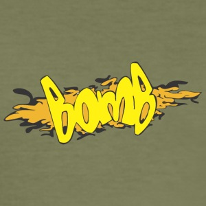 bomb graffiti - Men's Slim Fit T-Shirt