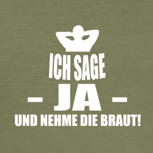 brudgum - Slim Fit T-shirt herr
