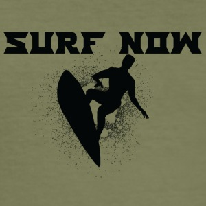 surf now 02 black - Men's Slim Fit T-Shirt