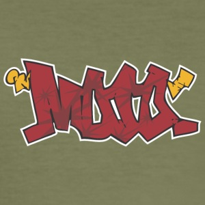 mooo Graffiti - Männer Slim Fit T-Shirt