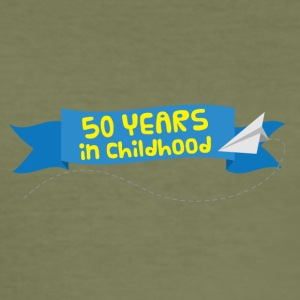 50 års jubilæum: 50 år i Childhood - Herre Slim Fit T-Shirt