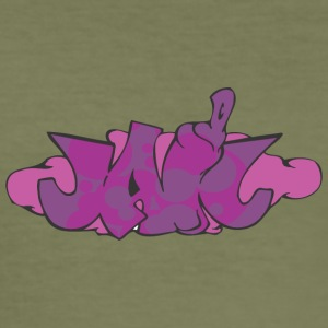 gevangenis graffiti - slim fit T-shirt