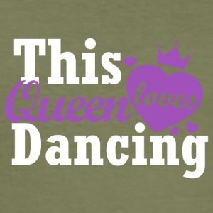 This queen loves dancing - Men's Slim Fit T-Shirt