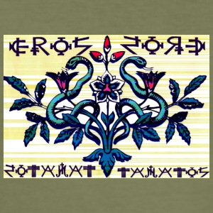 eros og thanatos - Slim Fit T-skjorte for menn