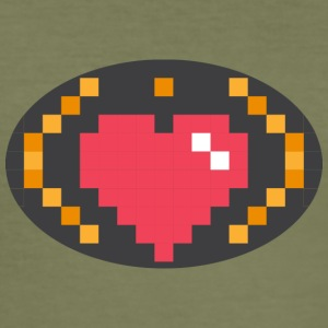 Digital Heart Isle by Isles of Shirts - Men's Slim Fit T-Shirt