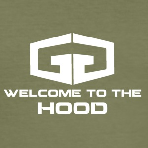GG Welcome to the Hood Logo white - Men's Slim Fit T-Shirt