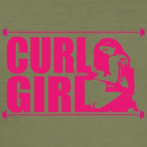 CURL GIRL pink - Men's Slim Fit T-Shirt