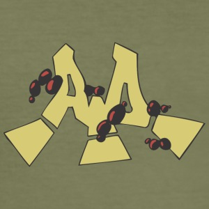 aa Graffiti - Männer Slim Fit T-Shirt