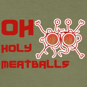 OH HOLY MEATBALLS - Men's Slim Fit T-Shirt