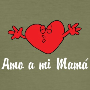 Amo A Mi Mama - Slim Fit T-skjorte for menn