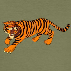 Tiger, tigers, - Men's Slim Fit T-Shirt