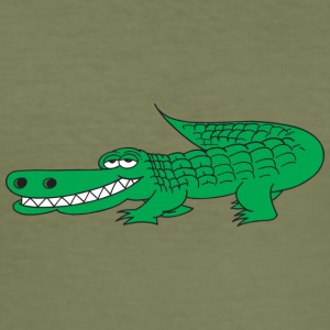 grinende Alligator - Herre Slim Fit T-Shirt