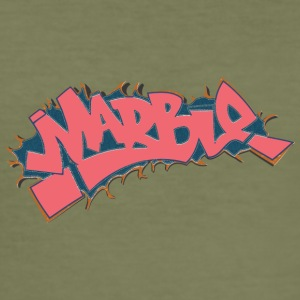 marmer graffiti lichtrood - slim fit T-shirt