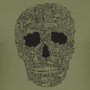Ornate-Skull - Men's Slim Fit T-Shirt