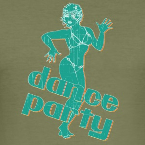 dance party with sexy girl vintage - Men's Slim Fit T-Shirt