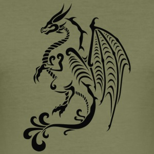Asian Dragon - Männer Slim Fit T-Shirt