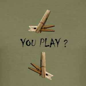you play - Camiseta ajustada hombre