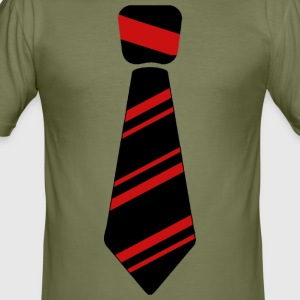 tie red - Men's Slim Fit T-Shirt