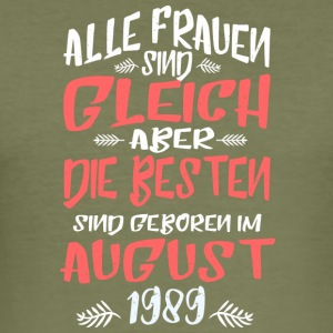 August 1989 - Männer Slim Fit T-Shirt