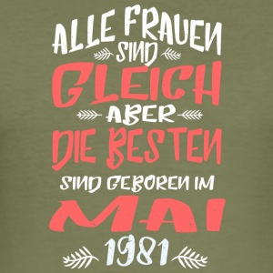 Mai 1981 - Männer Slim Fit T-Shirt