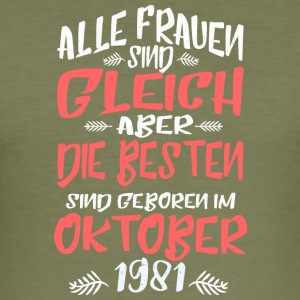 Oktober 1981 - Männer Slim Fit T-Shirt