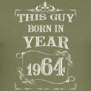 this guy born in year 1964 white - Men's Slim Fit T-Shirt