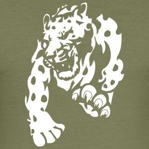 wilde Panther - Männer Slim Fit T-Shirt