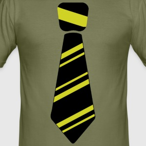 tie yellow - Men's Slim Fit T-Shirt
