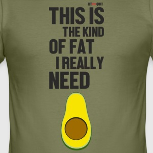 De avocado is vet dat je nodig hebt - slim fit T-shirt