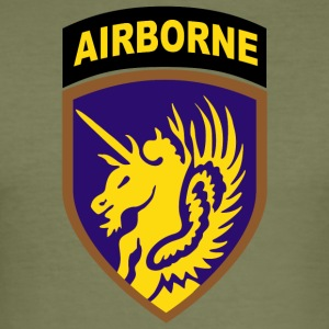 USA 13th Airborne Division - Männer Slim Fit T-Shirt