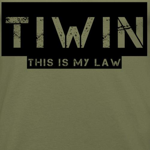 tiwin est ma loi - T-shirt près du corps Homme