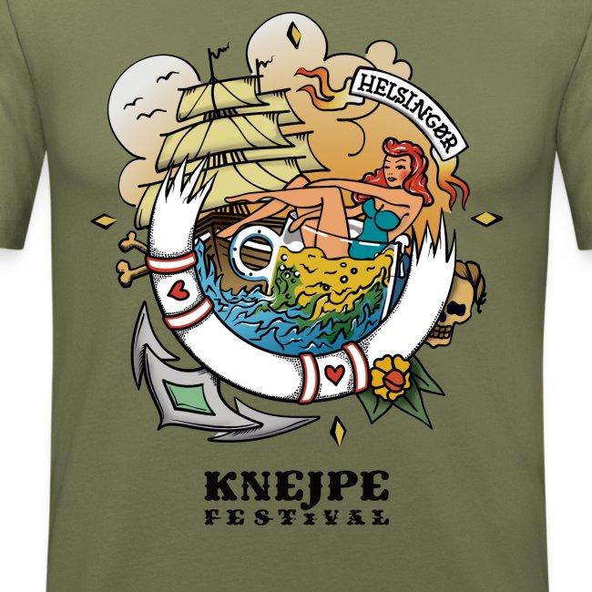 Knejpe Festival - stor tattoo med hvid tekst