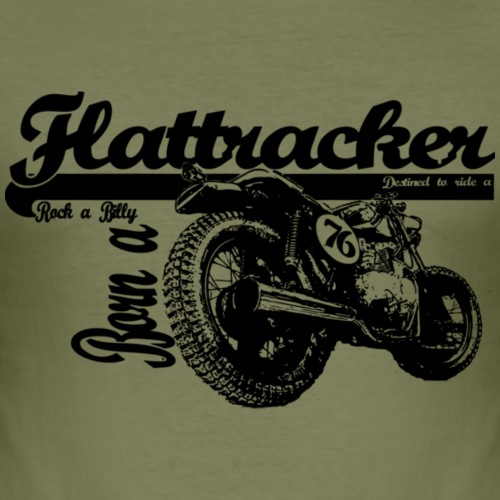 flattracker - Herre Slim Fit T-Shirt