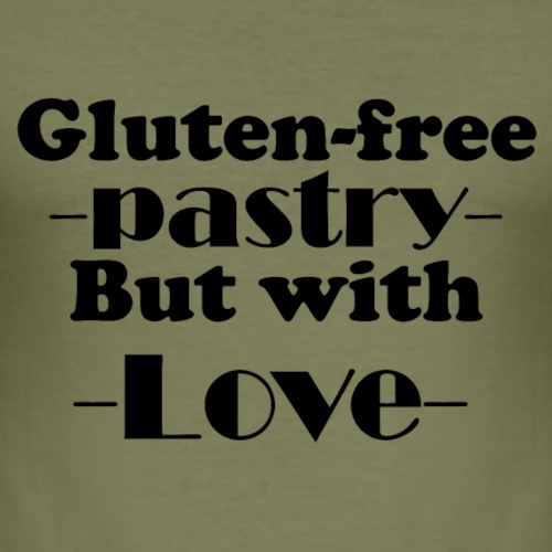 Gluten free pastry but with love - Men's Slim Fit T-Shirt