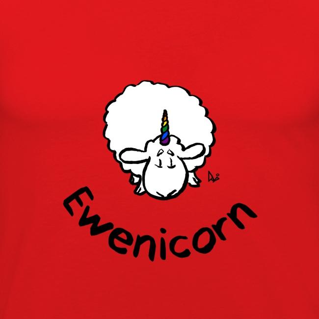 Ewenicorn - it's a rainbow unicorn sheep! (text)