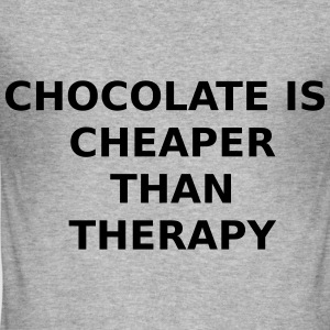 CHOCOLATE THERAPY - Männer Slim Fit T-Shirt