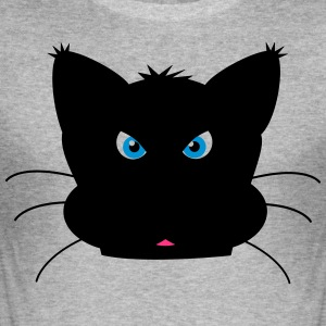 Cat brutaal met bakkebaarden - slim fit T-shirt