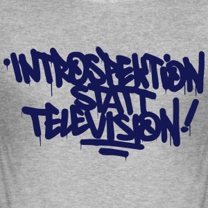 Introspectie plaats Television - slim fit T-shirt