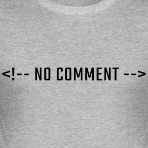 No comment - versaler HTML - Slim Fit T-shirt herr