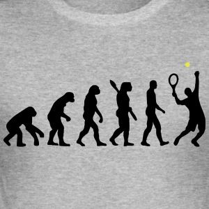 Tennis Evolution - Männer Slim Fit T-Shirt