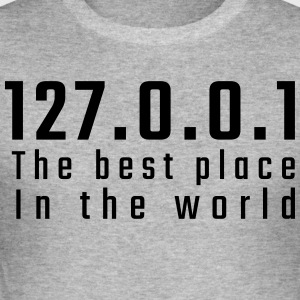 127.0.0.1 The best place in the world - Men's Slim Fit T-Shirt