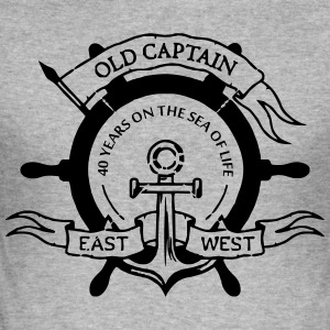 capitan40 - Männer Slim Fit T-Shirt