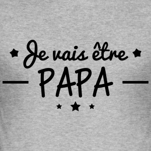 Papa om te Panda - slim fit T-shirt