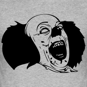Evil Clown Black & White - Slim Fit T-skjorte for menn
