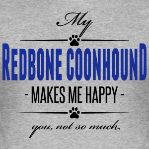 Min Redbone Coonhound - Slim Fit T-shirt herr