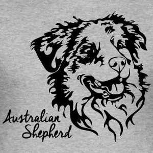 AUSTRALIAN SHEPHERD PORTRAIT - Männer Slim Fit T-Shirt
