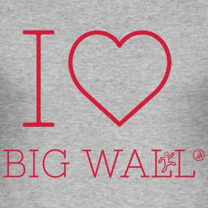 I love Big Wall - Men's Slim Fit T-Shirt