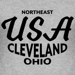 Northeast USA Cleveland Ohio - CLEVELAND SHIRTS - Männer Slim Fit T-Shirt